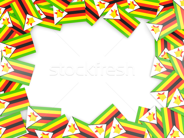 Frame with flag of zimbabwe Stock photo © MikhailMishchenko