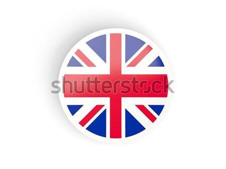 Adesivo bandiera Regno Unito isolato bianco viaggio Foto d'archivio © MikhailMishchenko