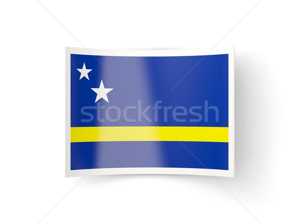 Bent icon with flag of curacao Stock photo © MikhailMishchenko