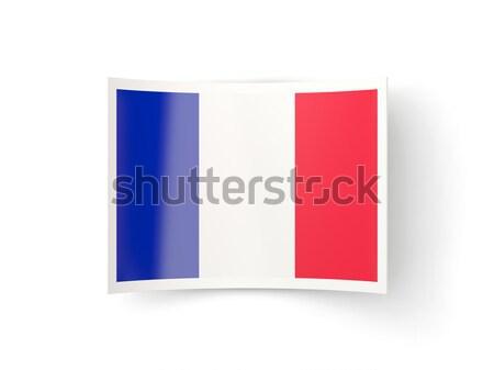 Bent icon with flag of france Stock photo © MikhailMishchenko