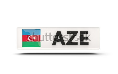 Miłości Azerbejdżan podpisania odizolowany biały banderą Zdjęcia stock © MikhailMishchenko