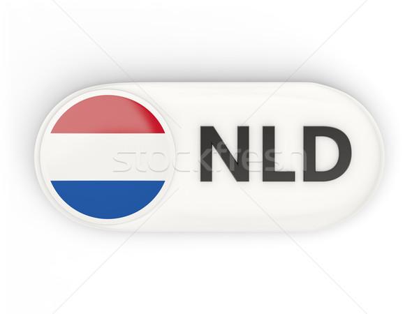 Round icon with flag of netherlands Stock photo © MikhailMishchenko