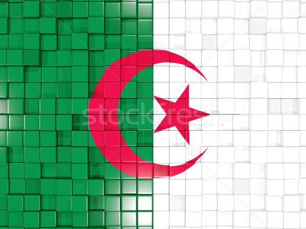 Carré pavillon Algérie 3d illustration mosaïque Photo stock © MikhailMishchenko