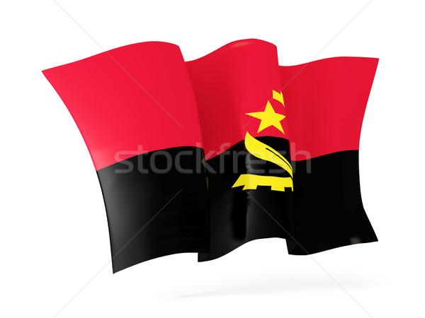 флаг Ангола 3d иллюстрации изолированный белый Сток-фото © MikhailMishchenko