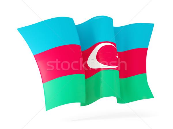Integet zászló Azerbajdzsán 3d illusztráció izolált fehér Stock fotó © MikhailMishchenko