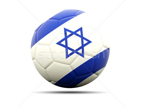 Futball zászló Izrael 3d illusztráció futball sport Stock fotó © MikhailMishchenko