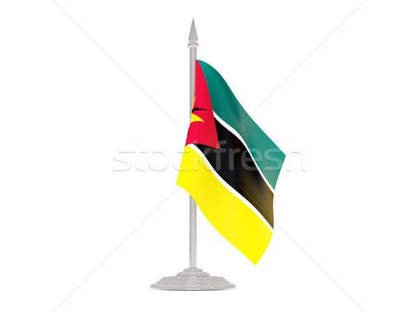 Bandera Mozambique asta de bandera 3d aislado blanco Foto stock © MikhailMishchenko