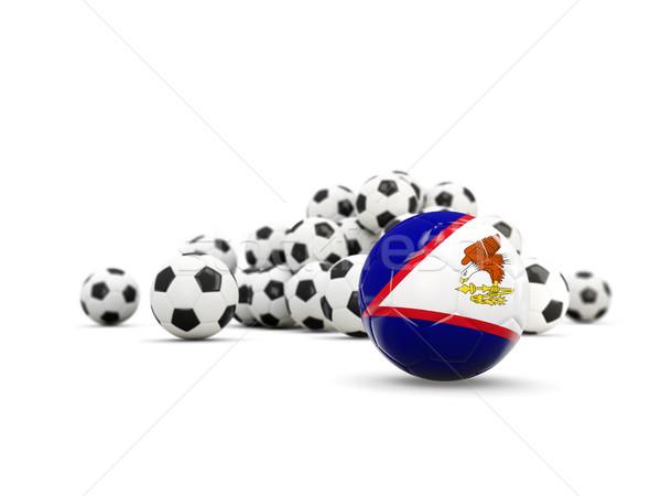 Futebol bandeira americano isolado branco ilustração 3d Foto stock © MikhailMishchenko