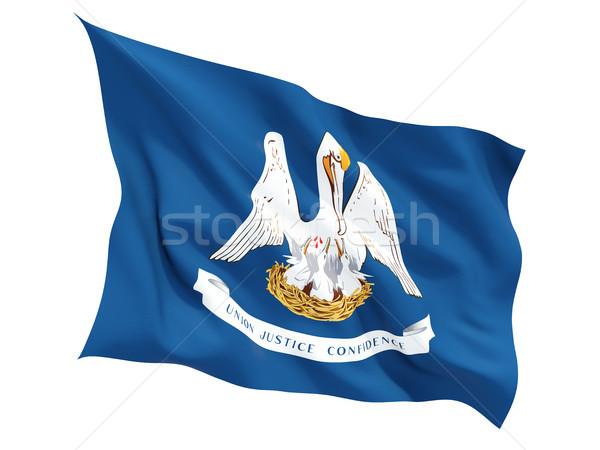 Flag of louisiana, US state fluttering flag Stock photo © MikhailMishchenko