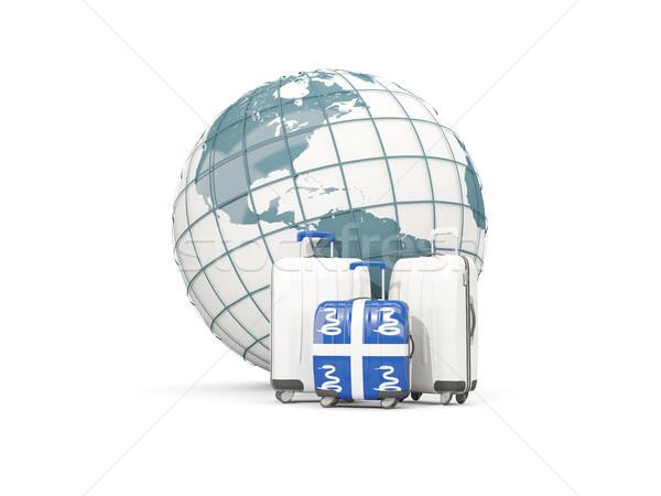 Камера флаг три мешки мира 3d иллюстрации Сток-фото © MikhailMishchenko