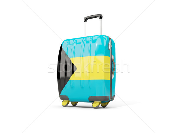 Luggage with flag of bahamas. Suitcase isolated on white Stock photo © MikhailMishchenko
