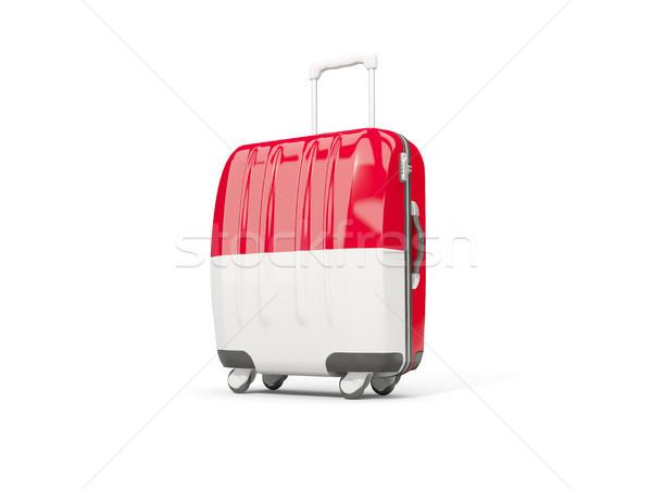 Камера флаг чемодан изолированный белый 3d иллюстрации Сток-фото © MikhailMishchenko