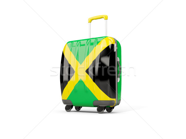 Luggage with flag of jamaica. Suitcase isolated on white Stock photo © MikhailMishchenko