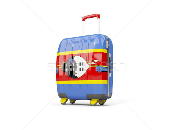 Luggage with flag of swaziland. Suitcase isolated on white Stock photo © MikhailMishchenko