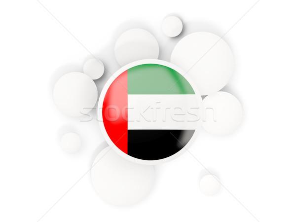 Zászló arab körök minta izolált fehér Stock fotó © MikhailMishchenko