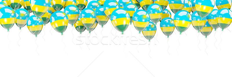 Ballons cadre pavillon Rwanda isolé blanche Photo stock © MikhailMishchenko