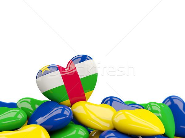Coração bandeira central africano república topo Foto stock © MikhailMishchenko