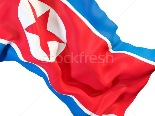 Bandeira norte ilustração 3d tecido Foto stock © MikhailMishchenko