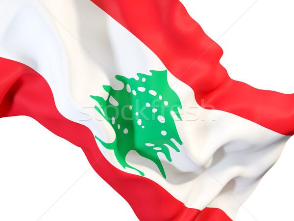 ストックフォト: フラグ · レバノン · クローズアップ · 3次元の図 · 旅行