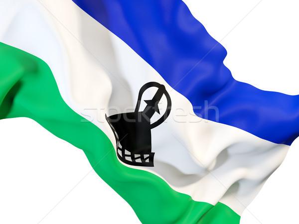Banderą Lesotho 3d ilustracji podróży Zdjęcia stock © MikhailMishchenko