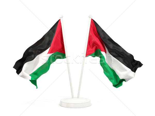 Two waving flags of palestinian territory Stock photo © MikhailMishchenko