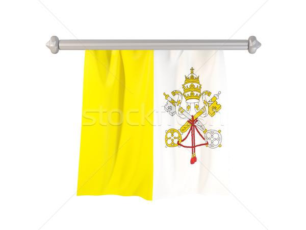 флаг Ватикан изолированный белый 3d иллюстрации Label Сток-фото © MikhailMishchenko