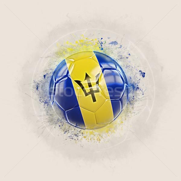 Grunge futebol bandeira Barbados ilustração 3d mundo Foto stock © MikhailMishchenko