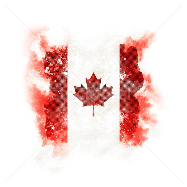 Square grunge flag of canada Stock photo © MikhailMishchenko