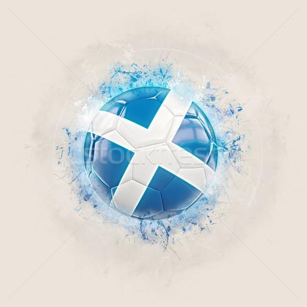 Grunge voetbal vlag Schotland 3d illustration ontwerp Stockfoto © MikhailMishchenko