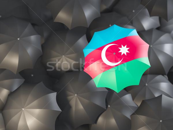 Esernyő zászló Azerbajdzsán felső fekete esernyők Stock fotó © MikhailMishchenko
