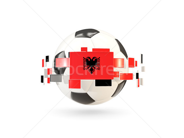 Futebol linha bandeiras bandeira Albânia flutuante Foto stock © MikhailMishchenko