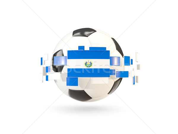 Soccer ball with line of flags. Flag of el salvador Stock photo © MikhailMishchenko