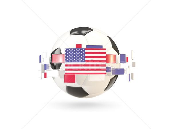 Futbol topu hat bayraklar bayrak Amerika Birleşik Devletleri Amerika Stok fotoğraf © MikhailMishchenko