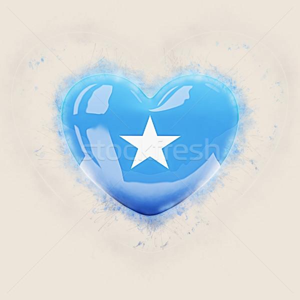 Serca banderą Somali grunge 3d ilustracji podróży Zdjęcia stock © MikhailMishchenko
