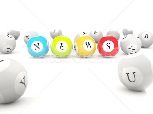 News letters on lottery balls Stock photo © MikhailMishchenko
