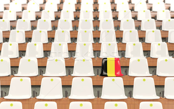 Estadio asiento bandera Bélgica blanco Foto stock © MikhailMishchenko