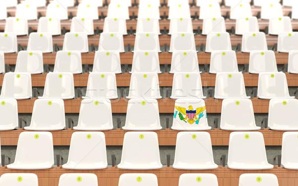 Stadion ülés zászló Virgin-szigetek csetepaté fehér Stock fotó © MikhailMishchenko