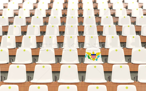 Stadium seat with flag of virgin islands us Stock photo © MikhailMishchenko
