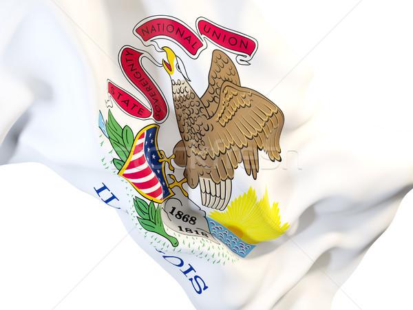 Illinois bayrak Amerika Birleşik Devletleri yerel bayraklar Stok fotoğraf © MikhailMishchenko