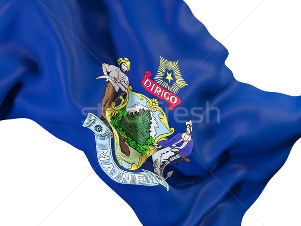Maine zászló közelkép Egyesült Államok helyi zászlók Stock fotó © MikhailMishchenko