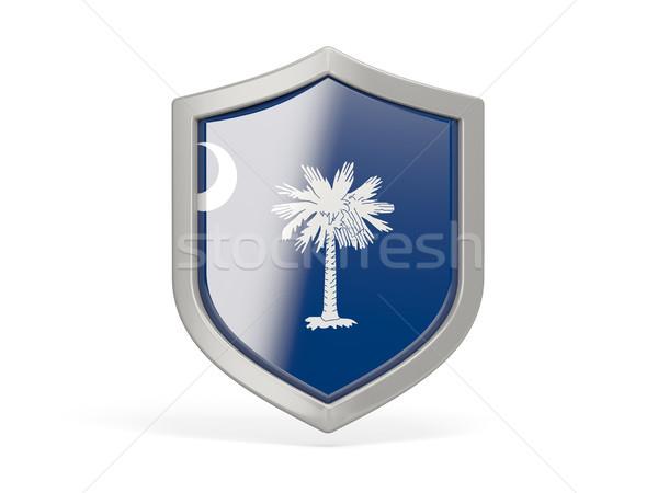 Tarcza ikona banderą South Carolina Stany Zjednoczone miejscowy Zdjęcia stock © MikhailMishchenko