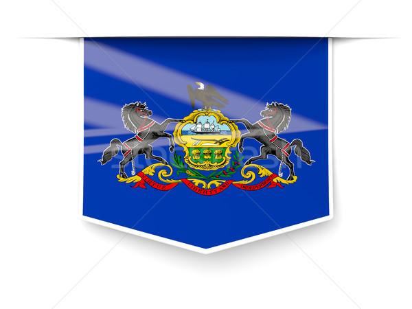 Pennsylvania bandiera piazza etichetta ombra Stati Uniti Foto d'archivio © MikhailMishchenko