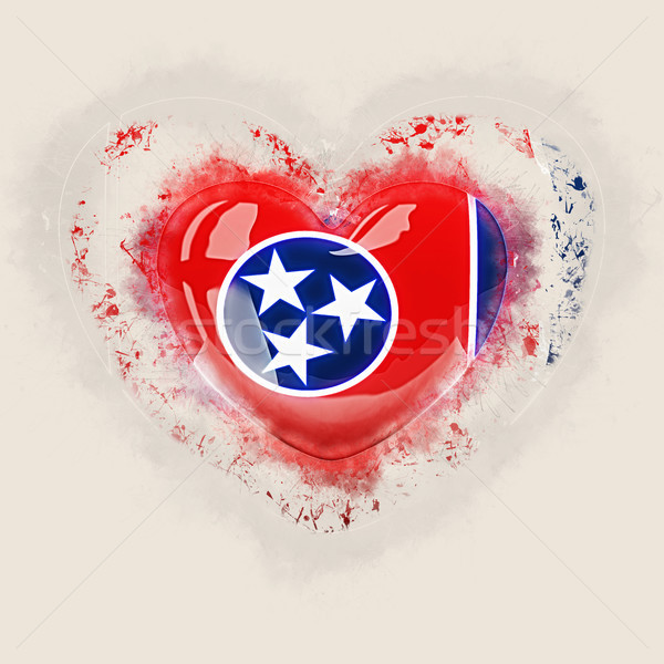 tennessee state flag on a grunge heart. United states local flag Stock photo © MikhailMishchenko