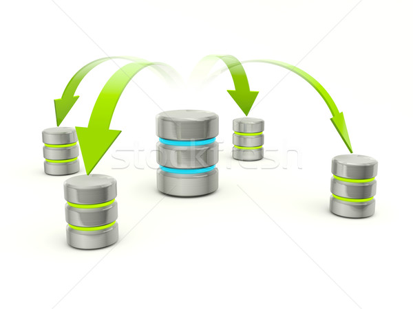 Distribution of data base icon Stock photo © MikhailMishchenko