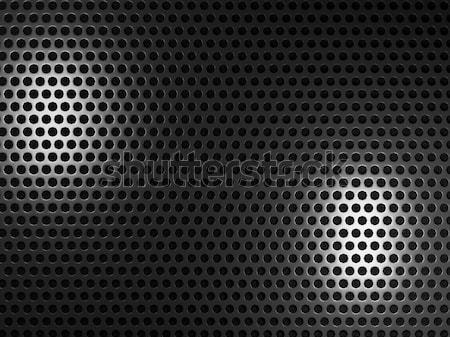 Czarny metal sześciokąt Język przemysłowych stali Zdjęcia stock © MikhailMishchenko
