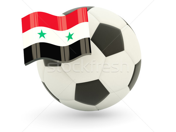 Voetbal vlag Syrië geïsoleerd witte sport Stockfoto © MikhailMishchenko