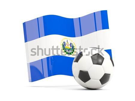 Flag of el salvador with football in front of it Stock photo © MikhailMishchenko