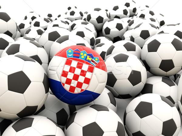 Foto d'archivio: Calcio · bandiera · Croazia · regolare · estate