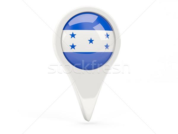 Bandeira ícone Honduras isolado branco mapa Foto stock © MikhailMishchenko