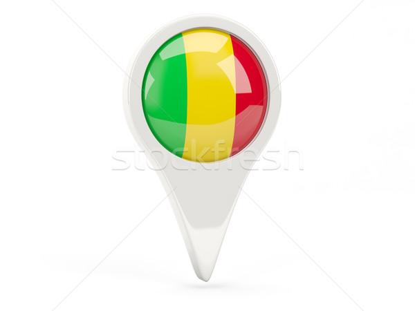 Round flag icon of mali Stock photo © MikhailMishchenko
